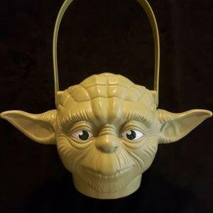 Yoda Head Halloween Pail. Awesome!! Unused!!